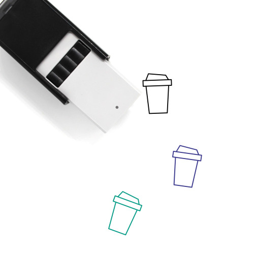 Bottled Coffee Self-Inking Rubber Stamp No. 4