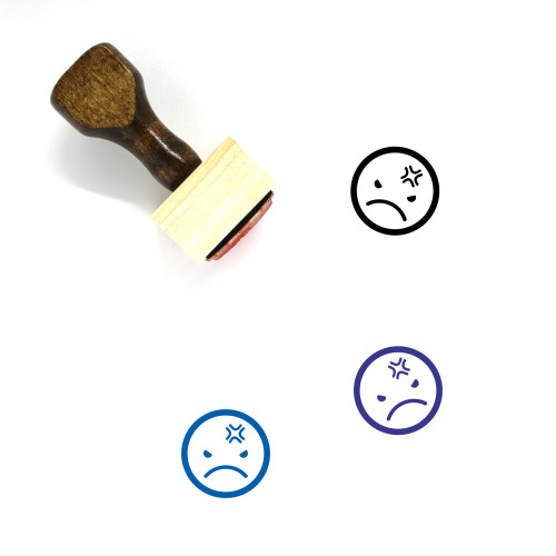 Anger Wooden Rubber Stamp No. 9