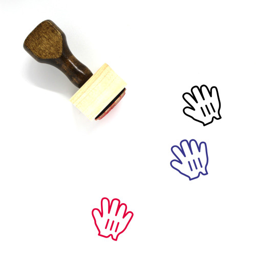 Grab Hand Wooden Rubber Stamp No. 1