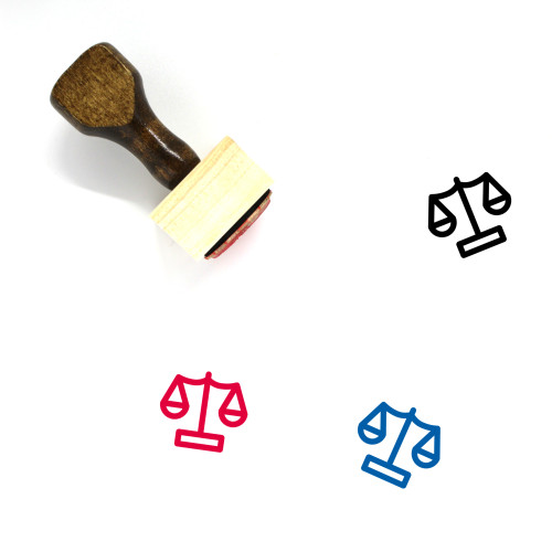Balance Wooden Rubber Stamp No. 120