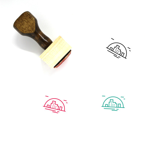 City Wooden Rubber Stamp No. 198