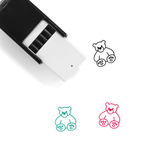 Teddy Bear Self-Inking Rubber Stamp No. 65