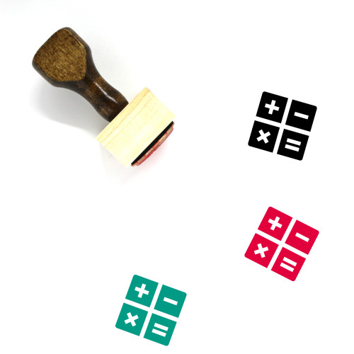 Calculator Wooden Rubber Stamp No. 145