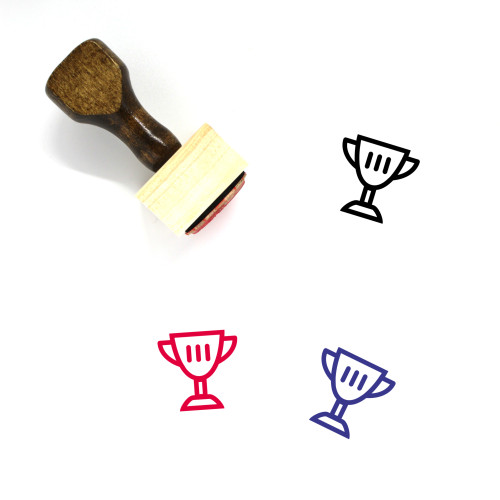 2Nd Place Trophy Wooden Rubber Stamp No. 2