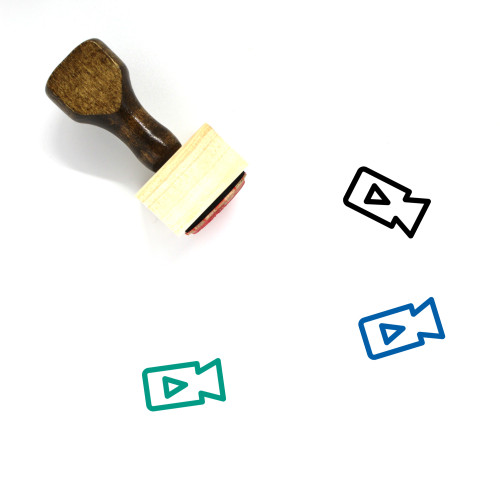 Video Recording Wooden Rubber Stamp No. 20
