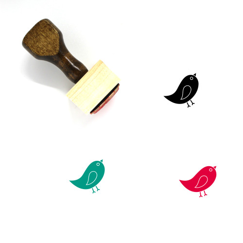 Bird Wooden Rubber Stamp No. 221
