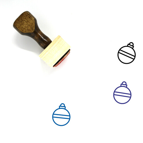 Ornament Wooden Rubber Stamp No. 63
