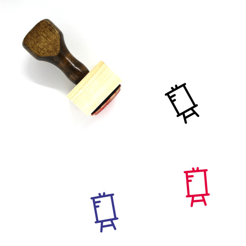 Easel Wooden Rubber Stamp No. 24
