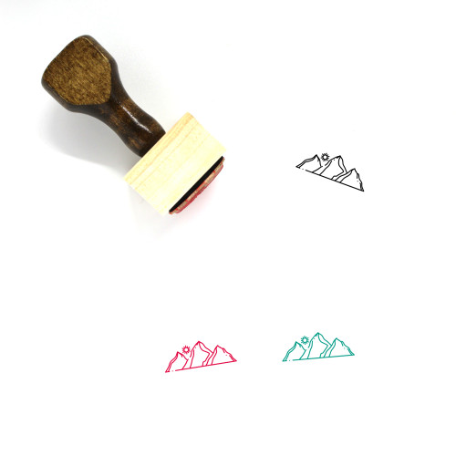 Hill Wooden Rubber Stamp No. 28
