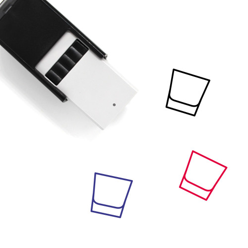 Glass Self-Inking Rubber Stamp No. 177