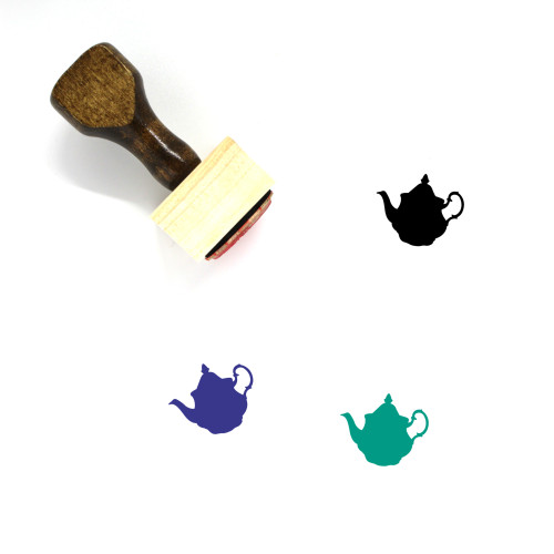 Teapot Wooden Rubber Stamp No. 37