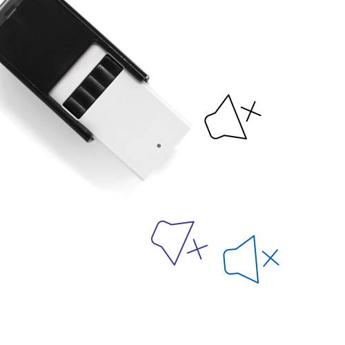 Volume Mute Self-Inking Rubber Stamp No. 26