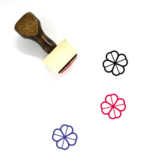 Clover Wooden Rubber Stamp No. 102