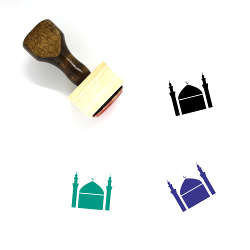 Mosque Wooden Rubber Stamp No. 302