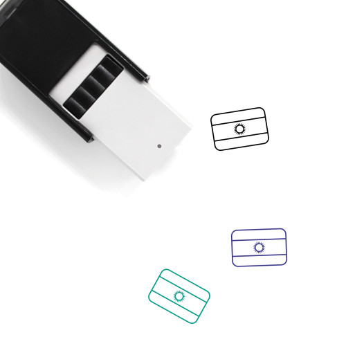 Flag Of Argentina Self-Inking Rubber Stamp No. 7
