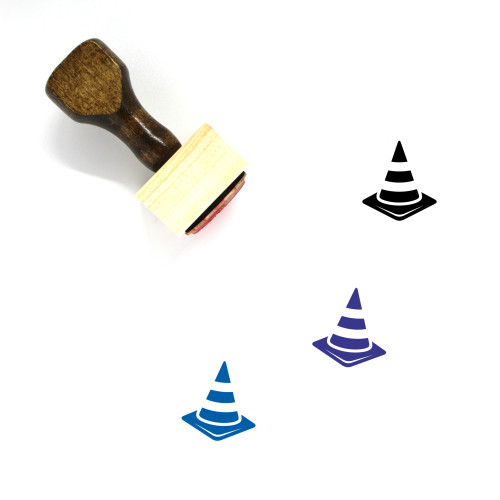 Traffic Cone Wooden Rubber Stamp No. 86