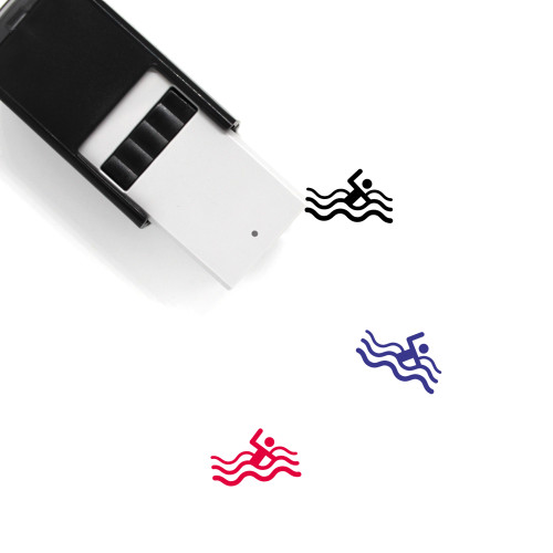 Swimming Self-Inking Rubber Stamp No. 39
