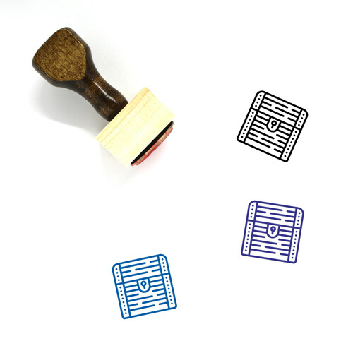 Treasure Chest Wooden Rubber Stamp No. 39