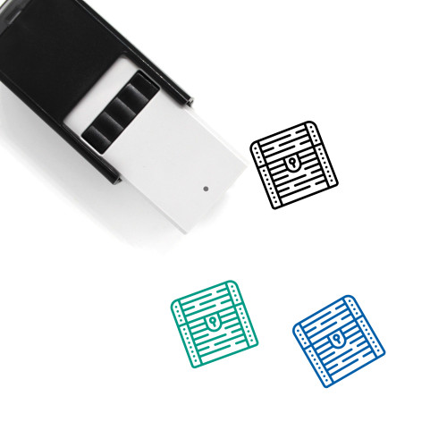 Treasure Chest Self-Inking Rubber Stamp No. 39