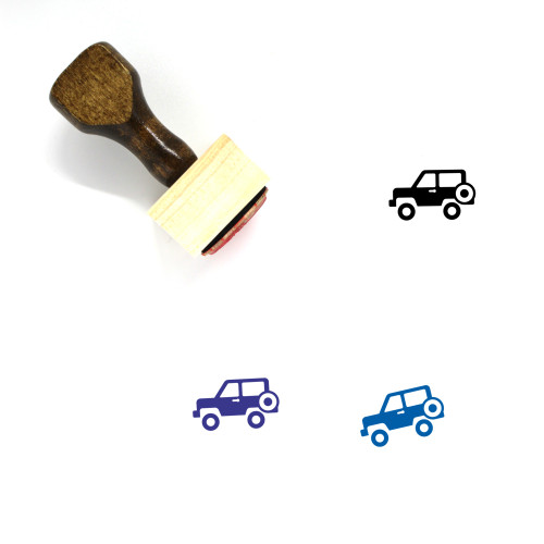 Jeep Wooden Rubber Stamp No. 44