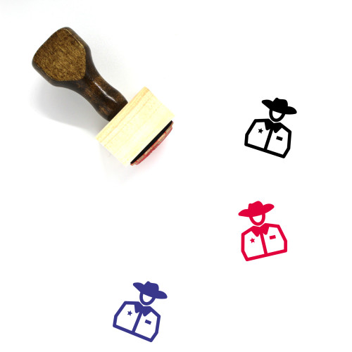 Sheriff Wooden Rubber Stamp No. 69