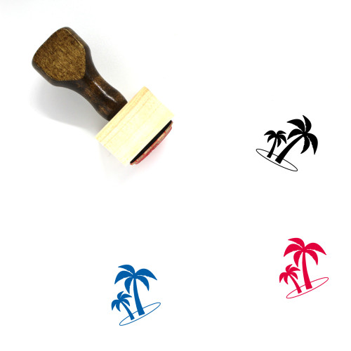 Palm Trees Wooden Rubber Stamp No. 49
