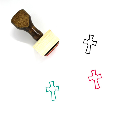 Cross Wooden Rubber Stamp No. 262