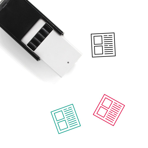 Blog Self-Inking Rubber Stamp No. 32