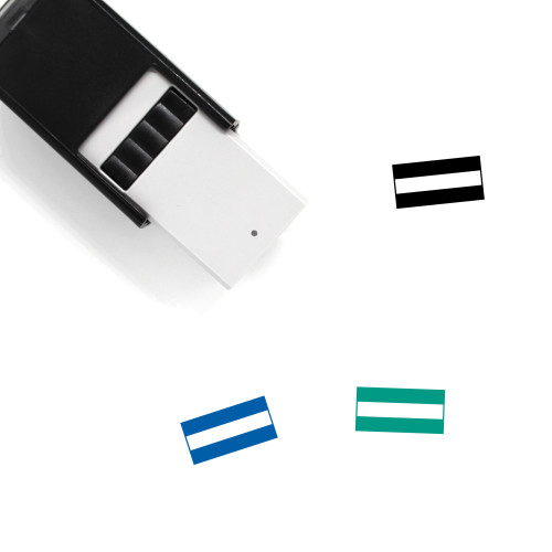 Hungary Flag Self-Inking Rubber Stamp No. 2