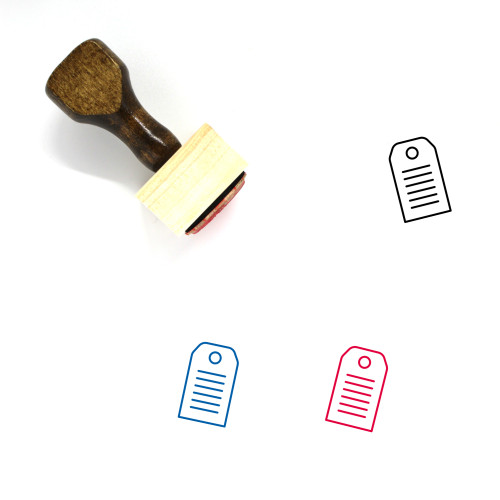 Swing Tag Wooden Rubber Stamp No. 18