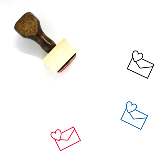 Love Mail Wooden Rubber Stamp No. 36