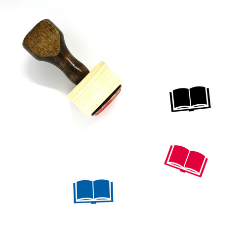 Book Wooden Rubber Stamp No. 707