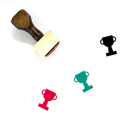 Trophy Wooden Rubber Stamp No. 428