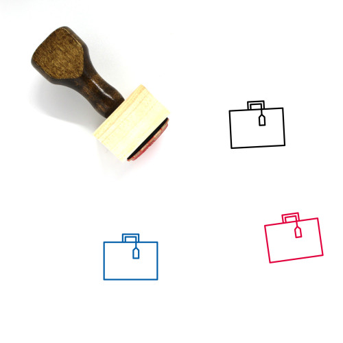 Suitcase Wooden Rubber Stamp No. 115