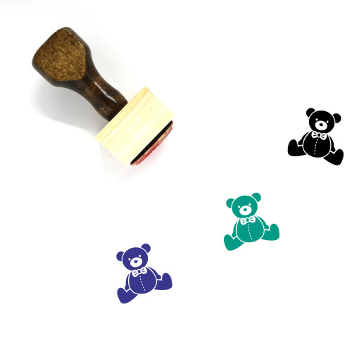 Teddy Bear Wooden Rubber Stamp No. 67