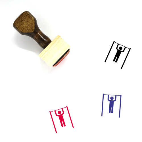 Gym Wooden Rubber Stamp No. 37