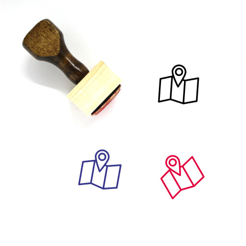 Map Wooden Rubber Stamp No. 657