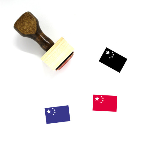 China Flag Wooden Rubber Stamp No. 7