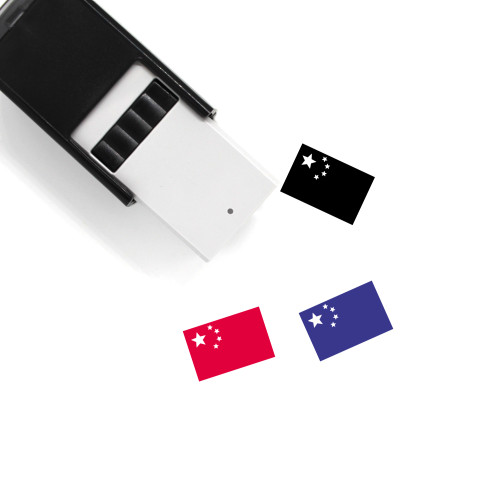 China Flag Self-Inking Rubber Stamp No. 7