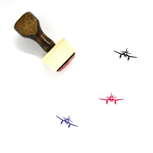 Airplane Wooden Rubber Stamp No. 339