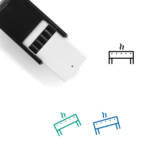 Grill Self-Inking Rubber Stamp No. 52
