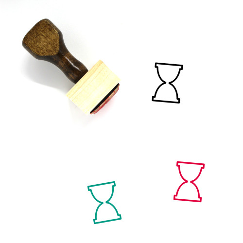 Hour Glass Wooden Rubber Stamp No. 42