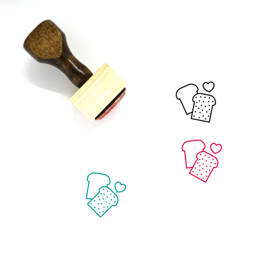 Health Food Wooden Rubber Stamp No. 3