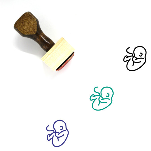 Embryo Wooden Rubber Stamp No. 24