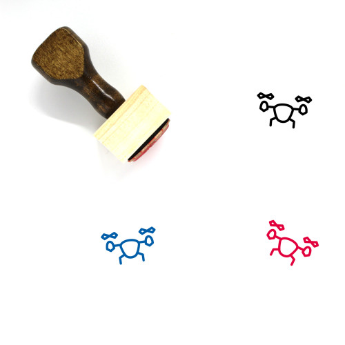 Drone Wooden Rubber Stamp No. 86