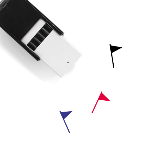 Flag Self-Inking Rubber Stamp No. 867
