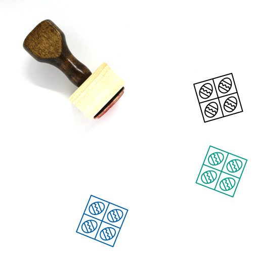 Easter Eggs Wooden Rubber Stamp No. 142
