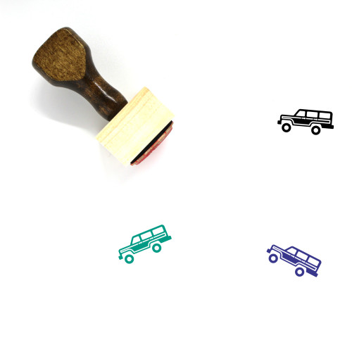 Jeep Wooden Rubber Stamp No. 45