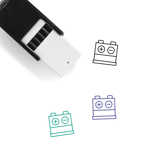 Car Battery Self-Inking Rubber Stamp No. 32