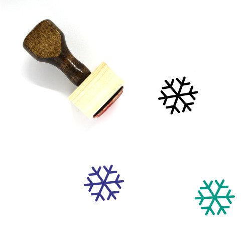 Snow Flake Wooden Rubber Stamp No. 32